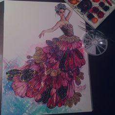 Fashion Illustration Collage, Fashion Collage, Visual Communication Design, Little Fashion, Nicole Kidman, Mixed Media Collage, Art Projects, Formal Dresses, Inspiration