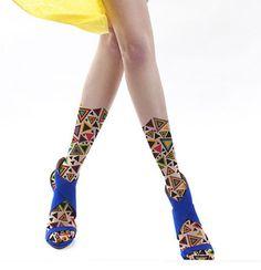Unique Designer Geometric Sheer Patterned Tattoo Tights Fashion Legwear Hosiery | eBay