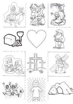 Elaborei uma Cruz com os principais momentos da Semana Santa, para contar a história da Páscoa aos meus alunos do 1º ciclo. Utilizei imagens...