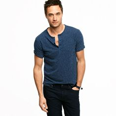 A great alternative to a long-sleeved henley is this Workwear Short-Sleeve Henley from J. Crew for $48.