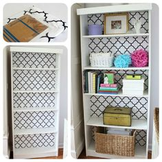 billy bookcase from ikea.. transformed!