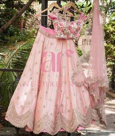 Blush pink every thing and a hint of floral print makes for Summer Love. Anushree reddy new collection. 24 March 2017