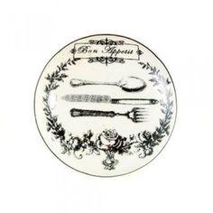 Bouton de meuble Bon Appétit en porcelaine - Boutons-Mandarine.com