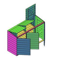 Het lelijke uitzicht van je kliko's zat? Maak dan met onze kliko-ombouw bouwtekening jouw volgende project en geniet van het resultaat! Bin Shed, Bin Store, Cement, Pallet, Wood, Diy, Hobby Ideas, Storage, Garden