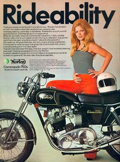 Norton used innuendo to sell bikes... and since sex sells just about anything, I'll bet they sold a lot of bikes with these ads.