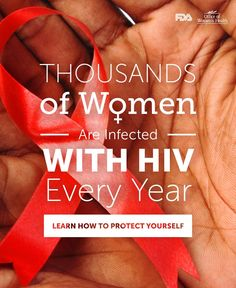 March 10 is National Women & Girls HIV/AIDS Awareness Day. Learn important facts about HIV/AIDS, including how to protect yourself and how to get tested. Hiv Aids Facts, Hiv Prevention, Aids Day, Living With Hiv, Aids Awareness, How To Protect Yourself, Along The Way, Health And Wellness, Women Health