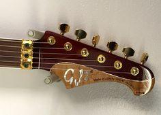 GJ2 Guitars made in the USA by Grover Jackson  GJ Select Shredder has a mahogany back topped with flamed koa