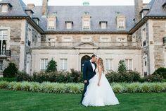 Romantic Rhode Island Wedding / Wedding dress by Hayley Paige