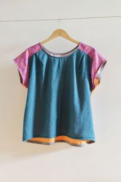 sewing: color block your bess top || imagine gnats