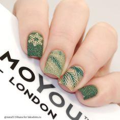 Пластина для стемпинга MoYou London Festive - купить с доставкой по Москве, CПб и всей России Winter Nails - http://amzn.to/2iDAwtQ