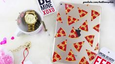 You've stolen a PIZZA my Heart | DIY Pizza Case for iPad or iPhone!!