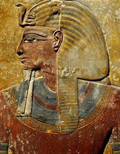 Relief of Seti I from a pillar in the pharaoh's tomb | Tomb KV 17.  Valley of…
