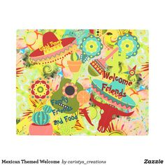 Mexican Themed Welcome Metal Print Metal Walls, Metal Wall Art, Outdoor Dining, Outdoor Decor, Granny Flat, Cottage Living, Party Accessories, Eclectic Decor, Garden Flags