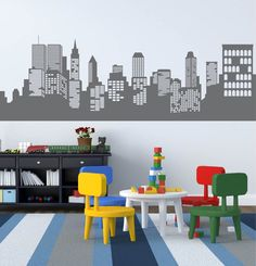 Hey, I found this really awesome Etsy listing at https://www.etsy.com/listing/240650794/wall-decals-kids-wall-decals-city-decal