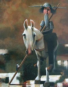 Cuadro Don Quijote de Joe McFadden.
