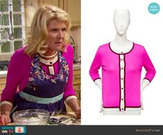Pam's pink cardigan on The Bold and the Beautiful.  Outfit Details: https://wornontv.net/64996/ #TheBoldandtheBeautiful