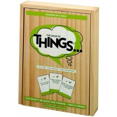"""Things: The Game of THINGS.… is the hilarious new party game that presentsplayers with provocative topics like """"THINGS… people do when noone is looking"""", """"THINGS… you wouldn't do for a million dollars"""" or""""THI Question Game, Version Francaise, Adult Party Games, Group Games, Family Games, Family Game Night, Craft Party, Party Fun, Read Aloud"""