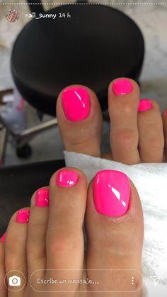 Pink Toe Nails, Toe Nail Color, Pretty Toe Nails, Cute Toe Nails, Feet Nails, Fancy Nails, Gorgeous Nails, Diy Nails, Pretty Toes