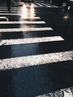 """"""" Something so beautiful about wet city streets and how the headlights reflect off of the pavement. """""""