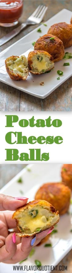Melting cheesy goodness inside and crispy potato crunch outside – these potato cheese balls are match made in heaven! #CheeseBalls #Cheese #PotatoCheeseBalls #PotatoCheese #Cheese #Snacks #Appetizers #FlavorQuotient