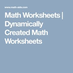 This page is for viewing the dynamically created Math Worksheets from the different math generator pages. Fractions Worksheets, Teacher Worksheets, Math Resources, Homeschooling Resources, School Resources, Printable Graph Paper, Printable Worksheets, Free Printable, Math Websites