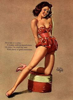 Pretty Pin Up Artwork:: Vintage Pin Up:: Pin Up Illustrations