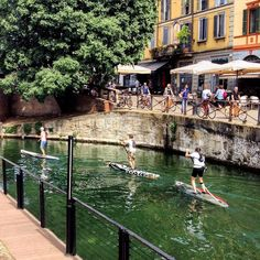 Noi a #Milano andiamo così... #milan #milanocity #milanodavedere #mi #sport #milanosport #standuppaddle #street #naviglio #navigli #navigliogrande #darsena #acqua #ingiro #bello #city #citylife by roberta.baria