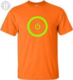 Small Orange Adult Gaming Power Button Gamer Pride T-Shirt (*Amazon Partner-Link)