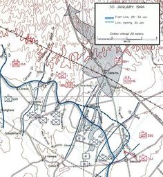 Operation's map Anzio battle 30 january 1944 - pin by Paolo Marzioli