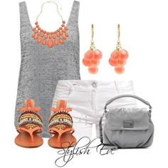 Oranje, grijs, wit