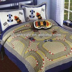 Luxury Applique Car Bedspread Set Hlk002 - Buy Bedspread Set,Patchwork Quilted Bedspreads,Fitted Quilted Bedspreads Product on Alibaba.com