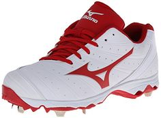 Mizuno Women's Advanced Sweep 2 Fastpitch Cleat Product Features Nine spike advanced outsole designed for fast pitch Product Description Mizuno Womens Advanced Sweep 2 Metal Cleats Built for Fast Pitch! Inspired by nature, Wave is the industryA's . Softball Cleats, Volleyball Shoes, Women Volleyball, Softball Stuff, Sneakers Fashion, Sneakers Nike, Metal Cleats, Mizuno Shoes, Softball Equipment