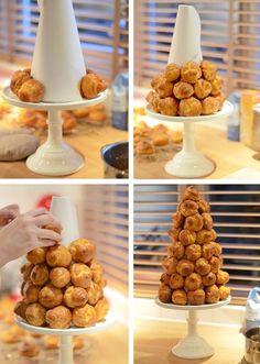 How To Croquembouche maken - Uit Pau line's Keuken Christmas Desserts, Christmas Baking, Christmas Dishes, Christmas Brunch, Holiday Dinner, Dessert Bars, Dessert Table, Just Desserts, Cake Toppers
