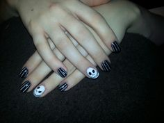Jack Skellington Disney Nails