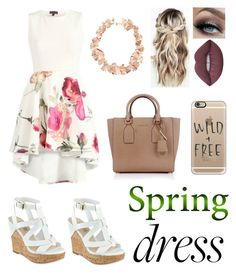 """""""Ahh... spring"""" by blessed-with-beauty-and-rage ❤ liked on Polyvore featuring GUESS, Michael Kors, Casetify, Lime Crime and Aurélie Bidermann"""
