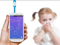 The Kinsa Smart Thermometer, which hooks into your smartphone's audio hookup, not only showcases yours and your child's temperatures, it encourages you to anonymously share your temperature and symptom information with the community so you can determine the health of your community.