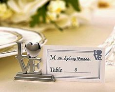 Every small detail contributes to the larger picture of these LOVE-design combination placecard/picture holders . ** PLEASE NOTE: Matching LOVE-design blank placecards are included. Sold as a set of four (4) and prices quoted are per set.