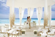 Beautiful Beach Wedding Ceremony Setup