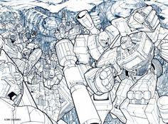 Transformers Holofoil Cover Pencils by Pat Lee Pat Lee, Comic Art Community, Transformers G1, Gi Joe, Pencil Art, Comics, Gallery, Cover, Bob