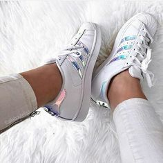 Adidas Superstar Metallic Iridescent White Shoes On Sale Cheap Adidas Shoes, Adidas Shoes Women, Nike Shoes Outlet, Adidas Sneakers, Adidas Superstar, Adidas Originals, Adidas Tumblr Wallpaper, Nike Running Shoes Women, Nike Elite Socks