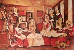 Las Meninas. Óleo sobre lienzo. Tamaño 89x130cms. Año: 2017. Autor: David García Rincón