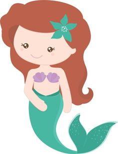 The Best Mermaid Clipart Ideas Mermaid Vector Cute Mermaid, Mermaid Art, Mermaid Under The Sea, The Little Mermaid, Little Mermaid Clipart, Mermaid Vector, Mermaid Theme Birthday, Birthday Clipart, Clipart Baby