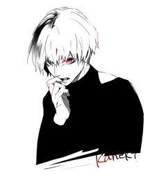Tokyo Ghoul - Kaneki Ken.       Agh! He so hot!!!