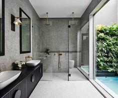 32 Small Bathroom Design Ideas for Every Taste - The Trending House Reece Bathroom, Zen Bathroom, Grey Bathrooms, Bathroom Interior, Modern Bathroom, Small Bathroom, Master Bathroom, Custom Bathrooms, Colorful Bathroom