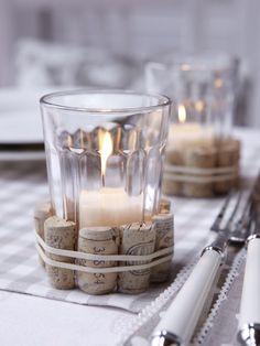 Περιοδικό Έτσι Απλά   Simple miracles Candle Holders, Projects To Try, Candles, Corks, Simple, Easy, Clever, Crafts, Craft Ideas