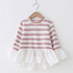 Candy Stripe Long Sleeve Ruffle Shirt - PRE ORDER