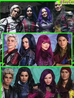 Descendants 1 y 2 y 3 Descendants Characters, Disney Channel Descendants, Disney Descendants 3, Descendants Cast, Cameron Boyce, Dove And Thomas, Disney Channel Movies, Mal And Evie, Really Good Movies