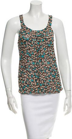 Diane von Furstenberg Printed Silk Tank Top Printed Silk, Diane Von Furstenberg, Tankini, Tank Tops, Stylish, Swimwear, Clothing, Women, Fashion