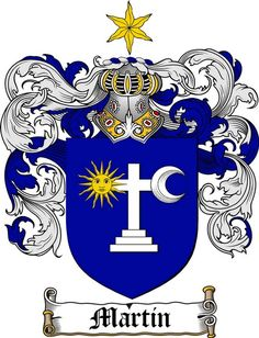 MARTIN-IRISH FAMILY CREST - COAT OF ARMS gifts at www.4crests.com