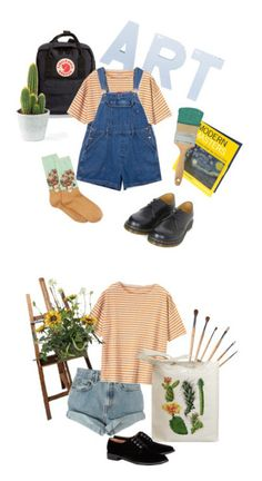 """ART HOE"" by hxdor ❤ liked on Polyvore featuring Fjällräven, Toast, HOT SOX, Dr. Martens, Levi's, Retrò and Robert Clergerie"